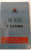 Rover 3LTR Owners Instruction Manual