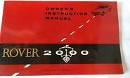 Rover 2000 Owners Instruction Manual SC TC AUTO