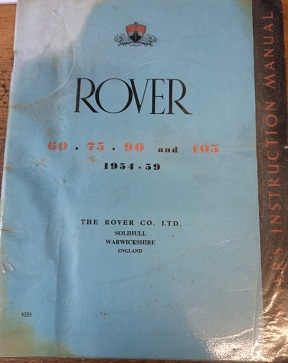 Rover 60/75/90/105 Owners Instruction Manual