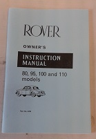 Instruction Owners Manual 80/95/100/110