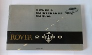 Rover 2000 Owners Maintenance Manual SC TC AUTO